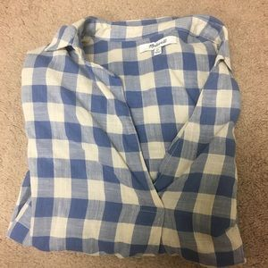 Madewell checkered top